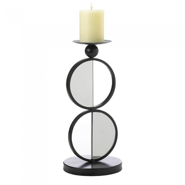 Duo Mirrored Candleholder