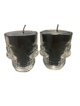 Skull Shot Glass Candles